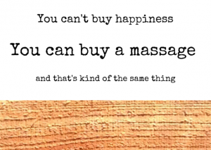 Cadeaubon massage you cant buy happiness